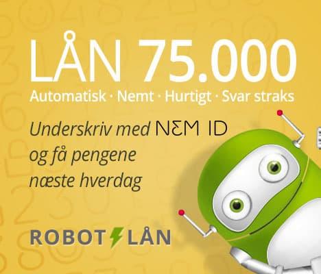 Robotlån – Lån 75.000 kr. i dag