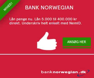 Hos Bank Norwegian kan du låne op til 400.000 kr., hvilket gør lånet ideelt som samlelån