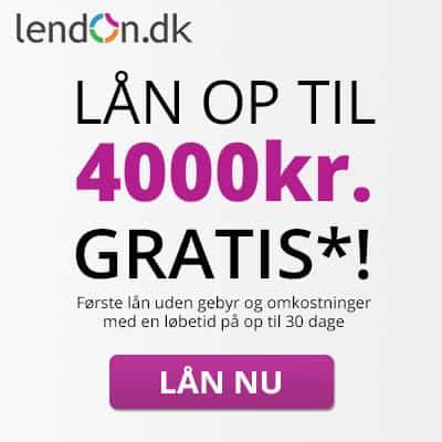 Hos LendOn kan du låne 4.000 kroner gratis