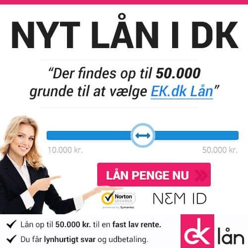 Nyt lån i DK. Lån 50.000 kr. til en fast lav rente