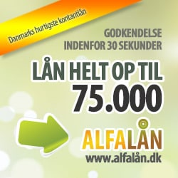 Hos AlfaLån kan du låne fra 3.000 kroner og op til 75.000 kroner